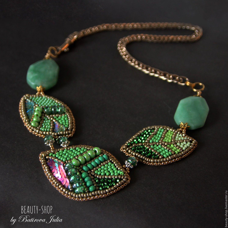 "Handmade ""LEAF"" necklace - leaf, necklace, jewelry, jewelry fashion, autumn, autumn fashion, winter"