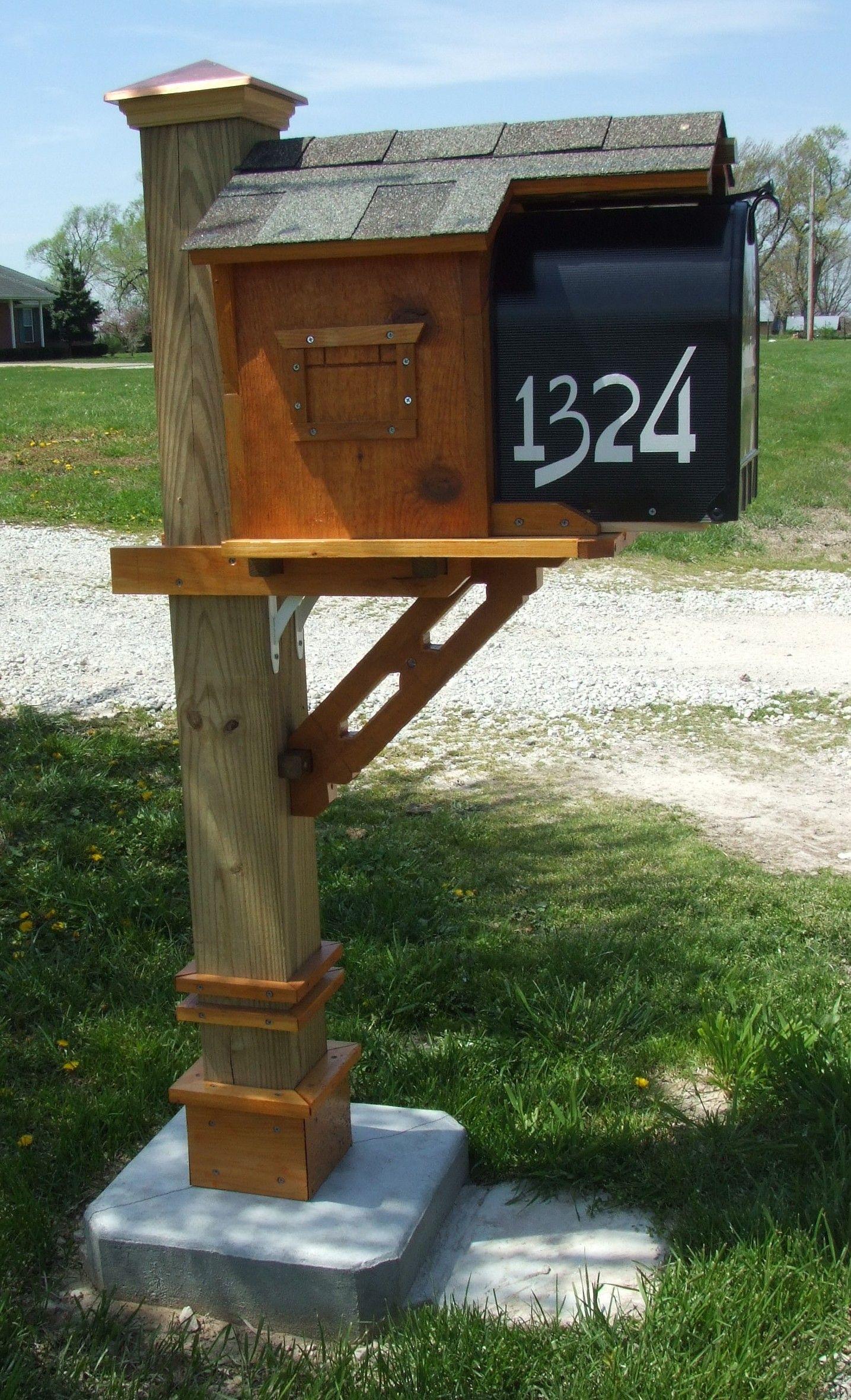Craftsman Style Mailbox Post Entryway Diy