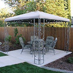 Garden Winds Replacement Canopy For The Martha Stewart Victoria Collection Gazebo 10 X 10 Patio Gazebo Replacement Canopy Replacement Canopy