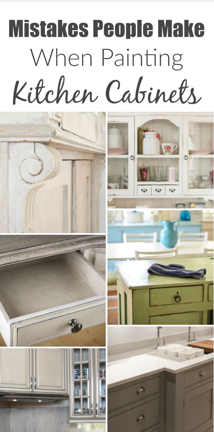 Charmant Mistakes People Make When Painting Kitchen Cabinets   Painted Furniture  Ideas