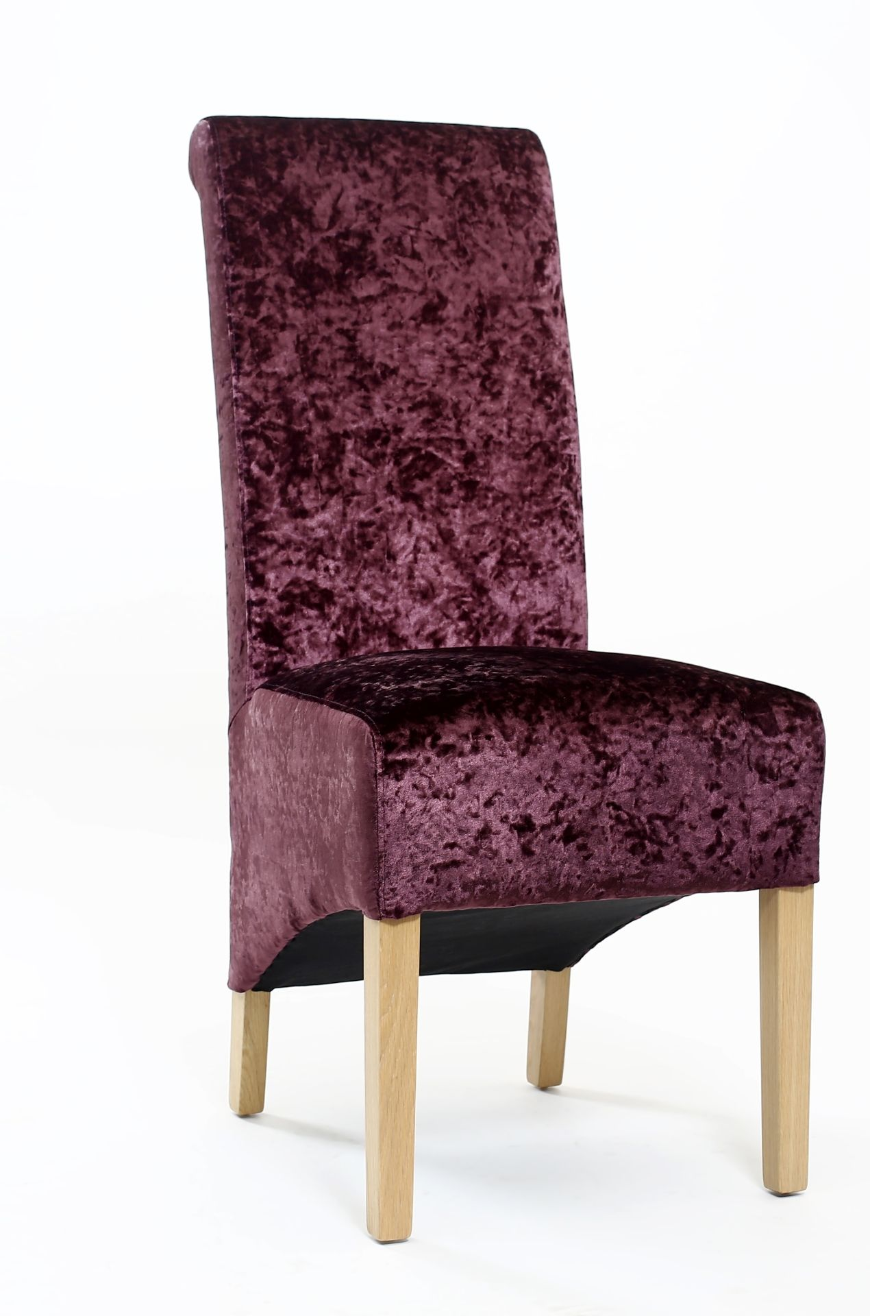 Krista Crushed Velvet Dining chair in Grape velvet