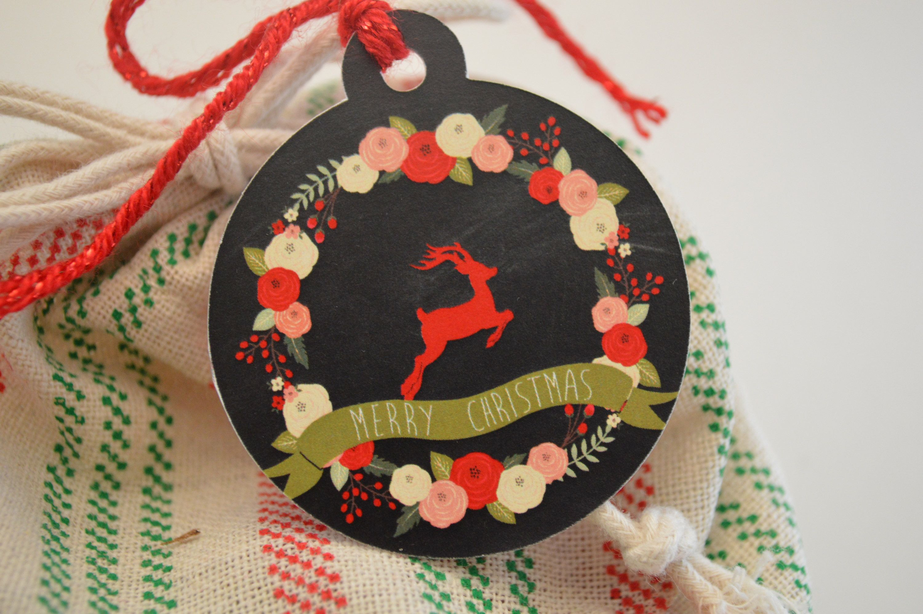 A personal favorite from my Etsy shop https://www.etsy.com/listing/571697645/merry-christmas-gift-tags-reindeer