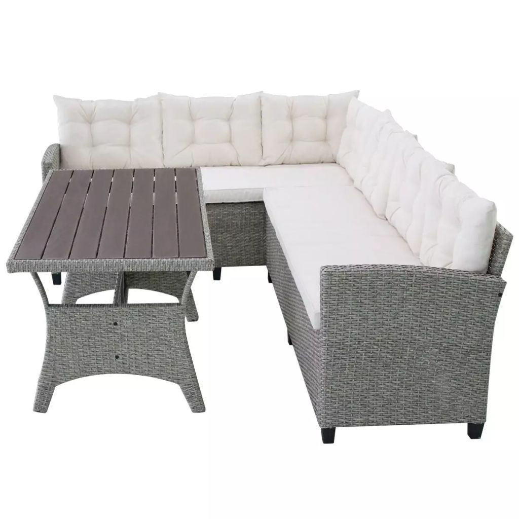 Groovy Details About Vidaxl Outdoor Corner Sofa Set 12 Piece Grey Pabps2019 Chair Design Images Pabps2019Com