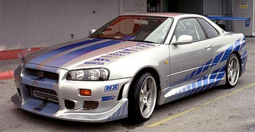 the main cars of 2 fast 2 furious 1999 nissan skyline gt r r34