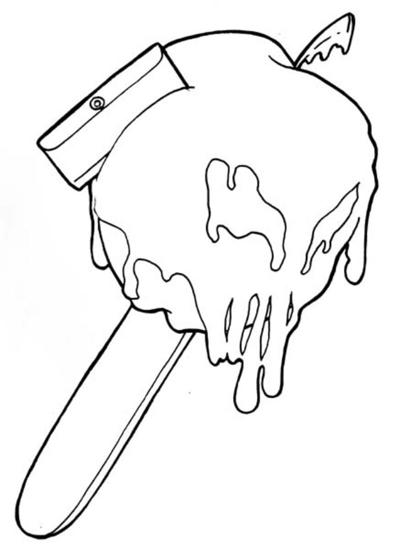 Razor Blade Drawing Tumblr For Pictures Candy Apple Tattoo