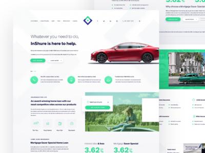 Insurance Website Concept Insurance Website Concept Insurance