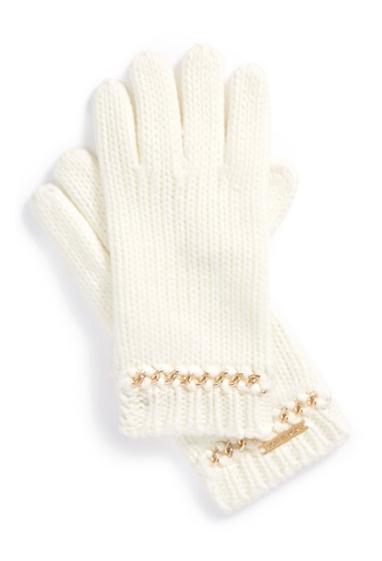 Pretty Michael Kors Chain Cuff Gloves http://rstyle.me/n/tv2w2bh9c7