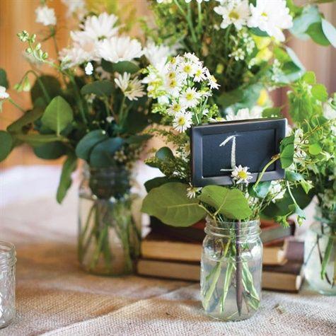 #rustic wedding #wildflower centerpiece