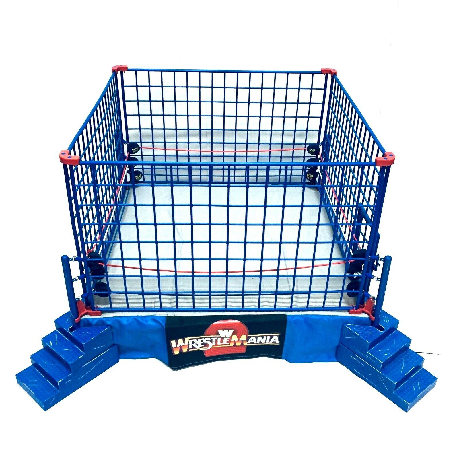 Wwe Jakks Pacific Wrestlemania 2 Official Scale Ring Steal Cage Wrestling Set Wrestlemania Wwe Wrestling