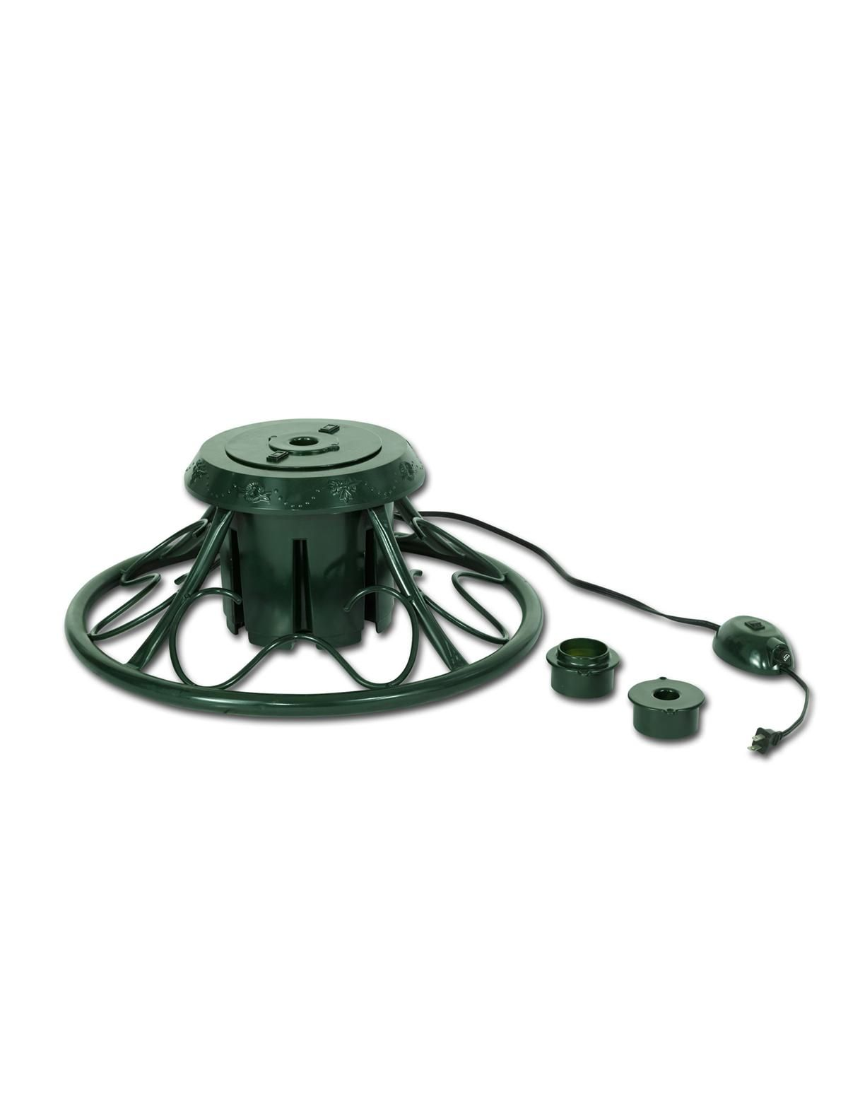 Green Rotating Christmas Tree Stand #MyBalsamHillHome | Tree under ...