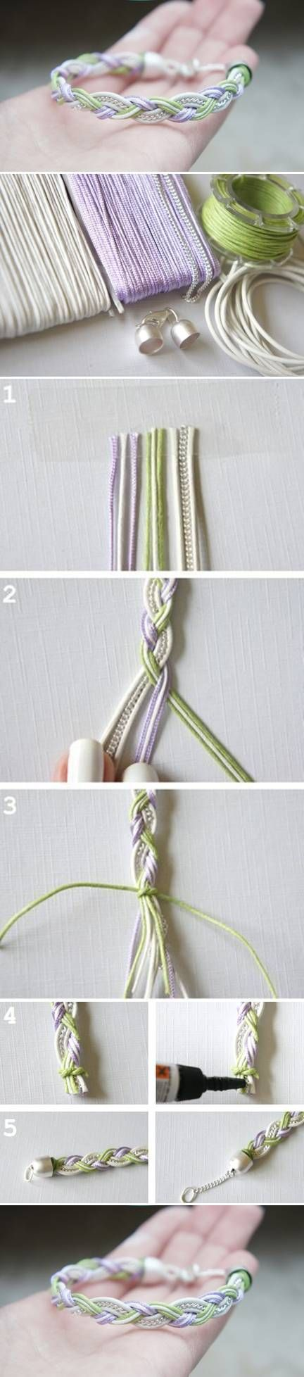DIY Simple Beautiful Bracelet DIY Simple Beautiful Bracelet - flot armbånd knyttet med en kæde i midten - flot - skal laves