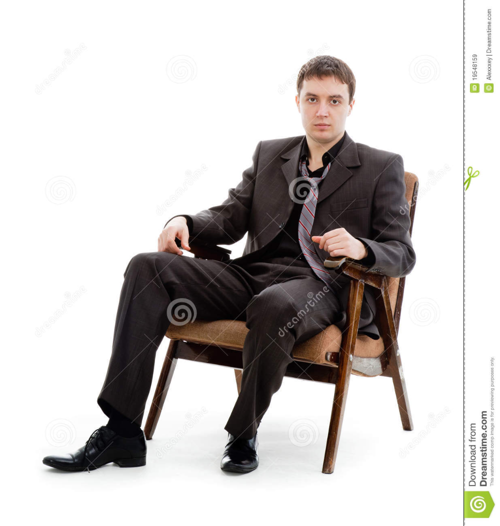 A Young Man In A Suit And Tie Sitting In A Chair Stock Image Image Of Brunette Clerk 19548159 Suit And Tie Young Man Man