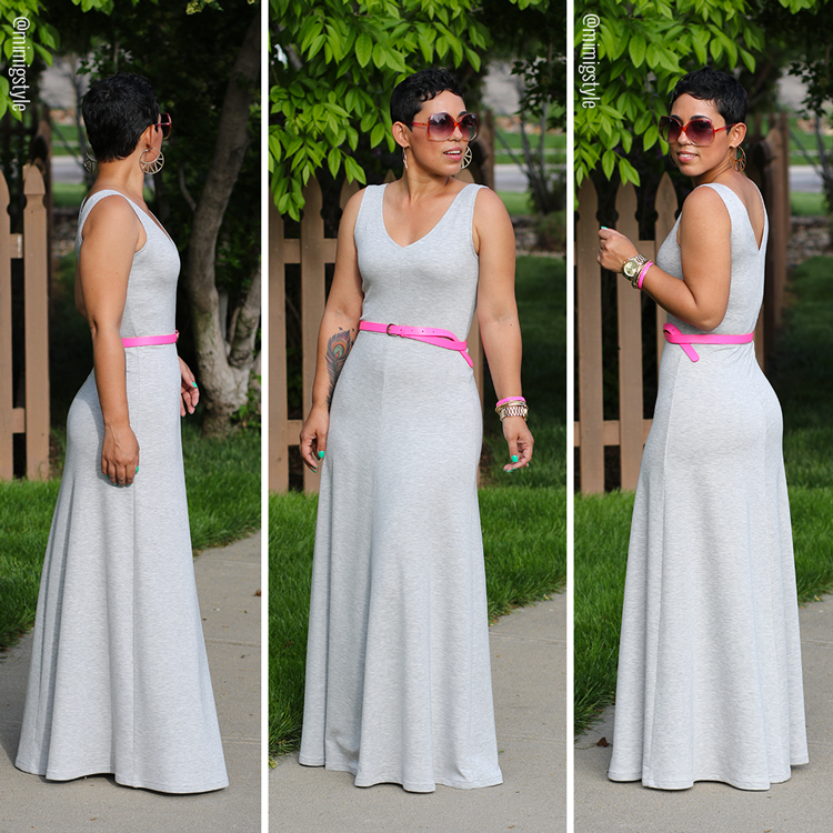 Knit Maxi Dress Pattern : #DIY #MaxiDress + #Pattern Review M7121 - Mimi G Style http://lowpricefabric....