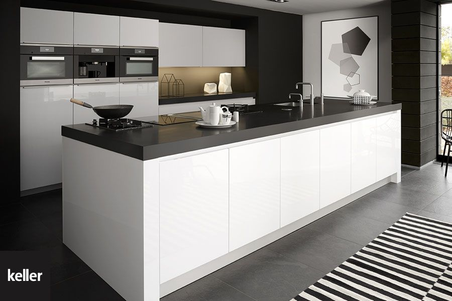 Keuken Zwart Blad : Keukentrend: witte keukens witte keukens pinterest best