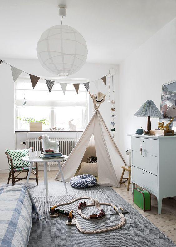 Mooie Slaapkamer Voor Kinderen.Mooi Ingerichte Slaapkamer Met Tipi Tent En Brio Trein Kinderkamer