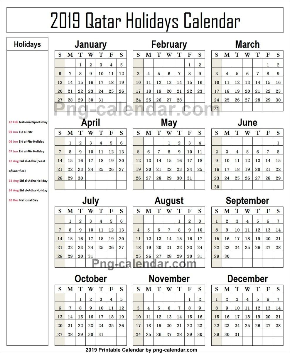 2019 Public Holidays Qatar Holidays Germany Japan Holidays School Holidays