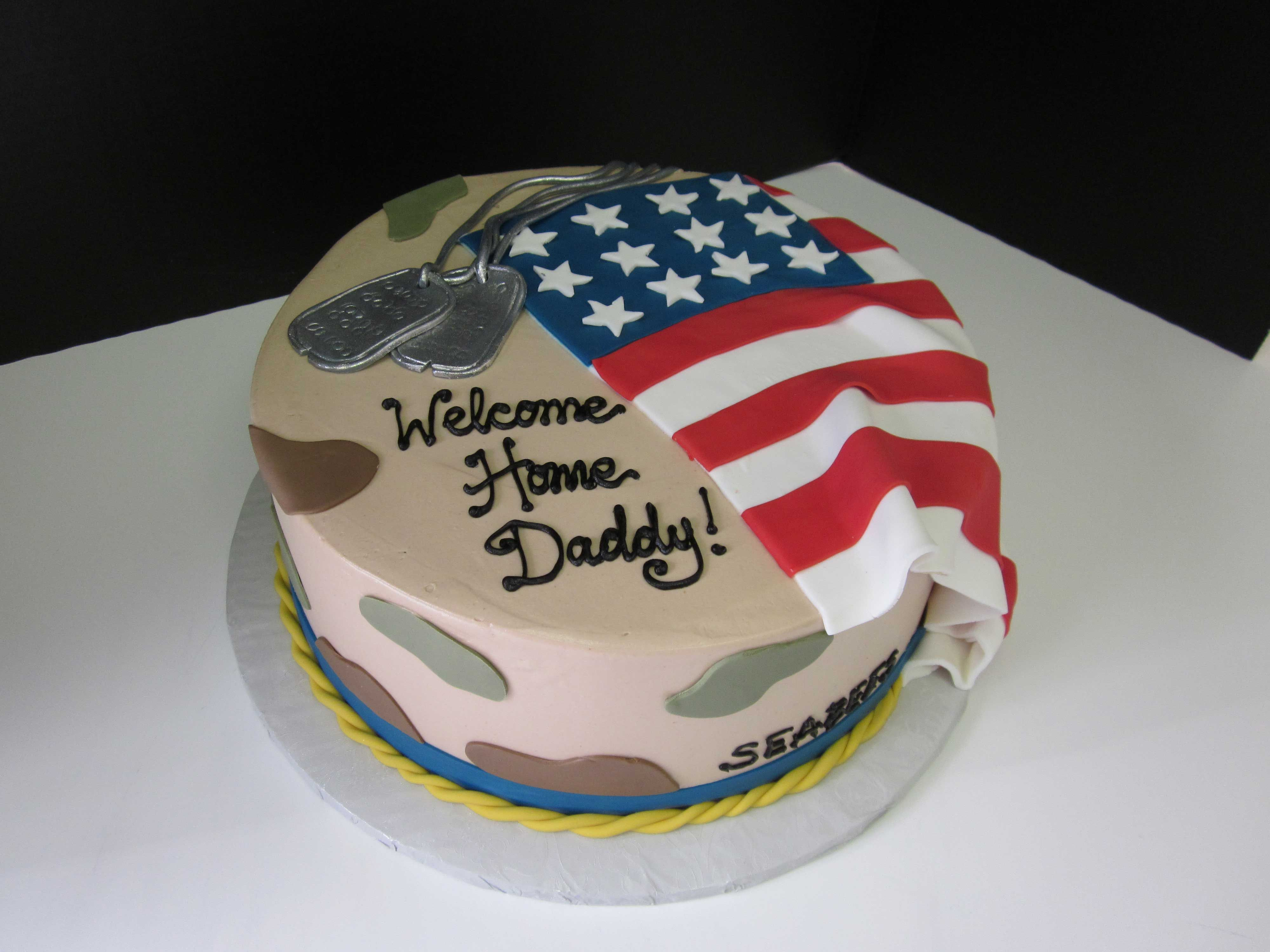 Welcome Home Cake Welcome Home Cakes Army Cake Military Cake