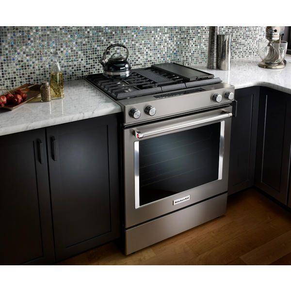 kitchenaid ksdg950ess 6 4 cu ft 4 burner dual fuel range rh pinterest com