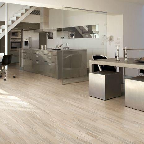 Modern Kitchen Features Over Camel Porcelain Tile That