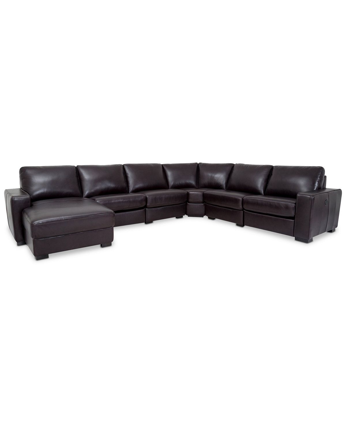 macys leather sofa with chaise cindy crawford sleeper sectional baci living room