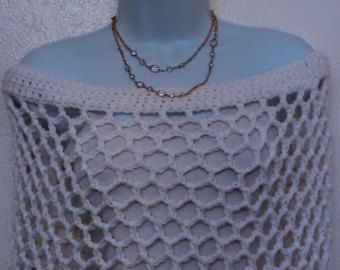 Crochet White Lace Caplet