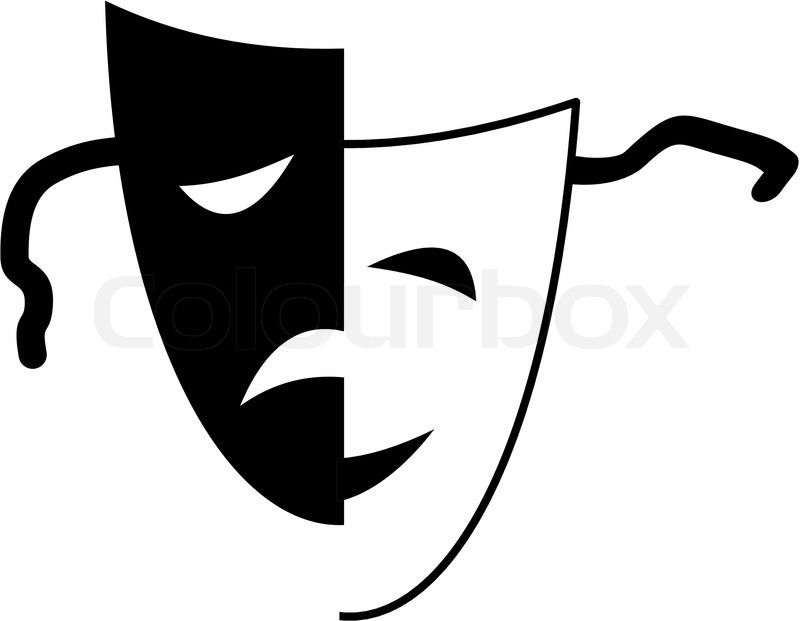 Face Art Stock Photo Colourbox Drama Masks Theatre Masks Free Clip Art