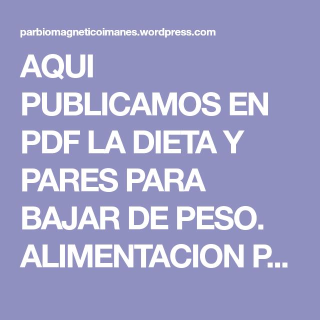 Cual es la dieta de los puntos pdf