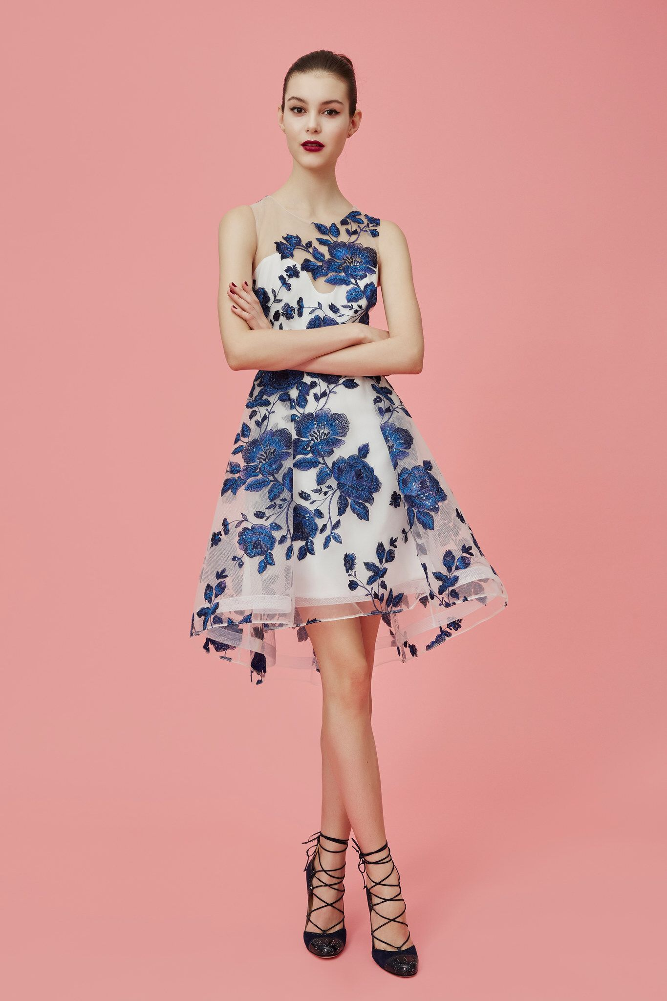 Long floral dress for wedding  Marchesa Notte PreFall  Fashion Show  Marchesa Fall  and