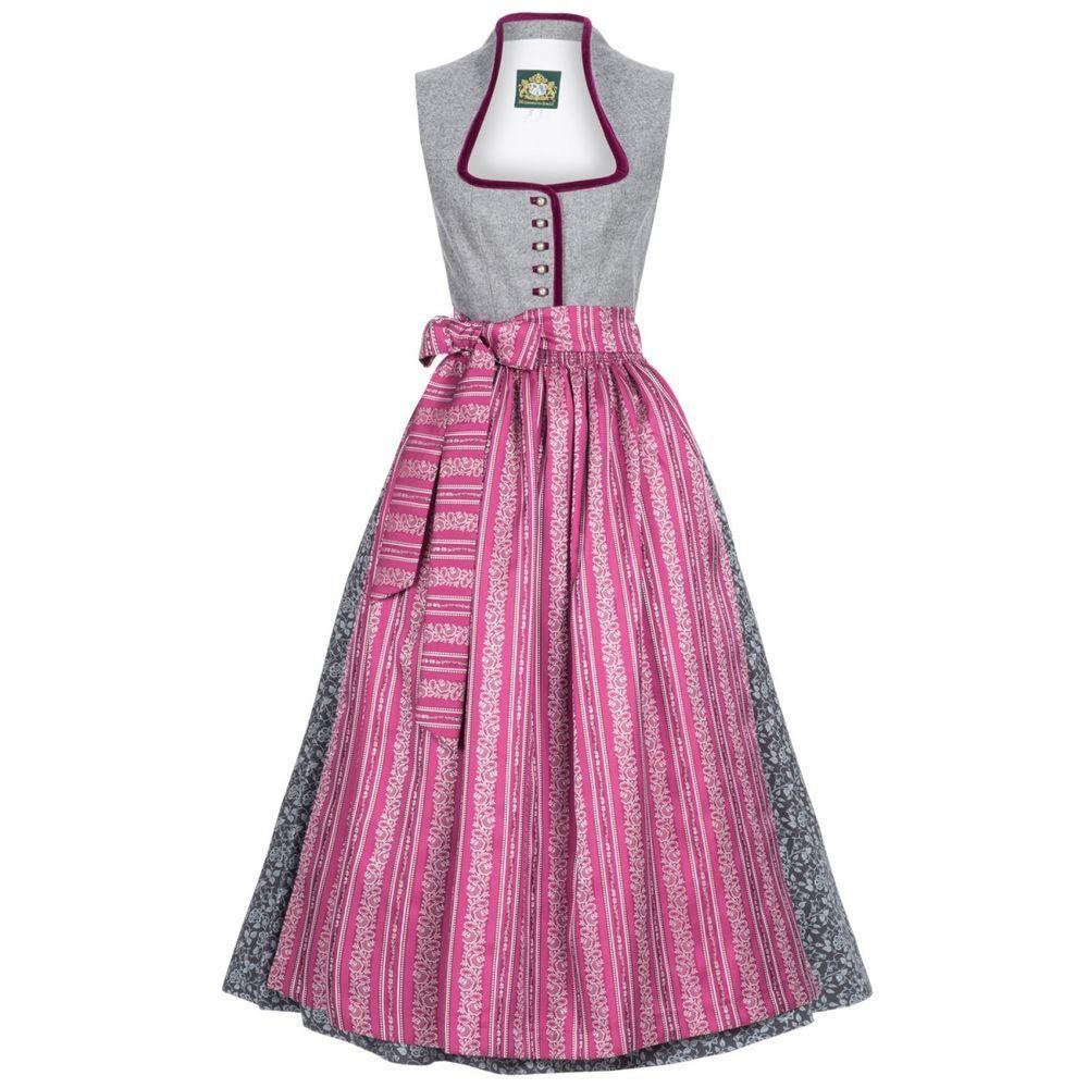 Langes Dirndl Koflersee in Grau von Hammerschmid in Kleidung & Accessoires, Damenmode, Trachtenmode | eBay