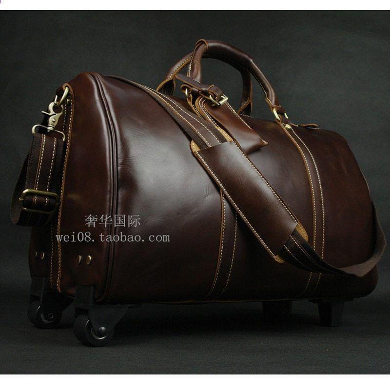 6fc3ec34036 Brown Wheels Baggage LEXEB Luxury Ерлерге арналған шынайы былғары  шабадандар мен саяхаттар 21 дюймдік бизнес қол