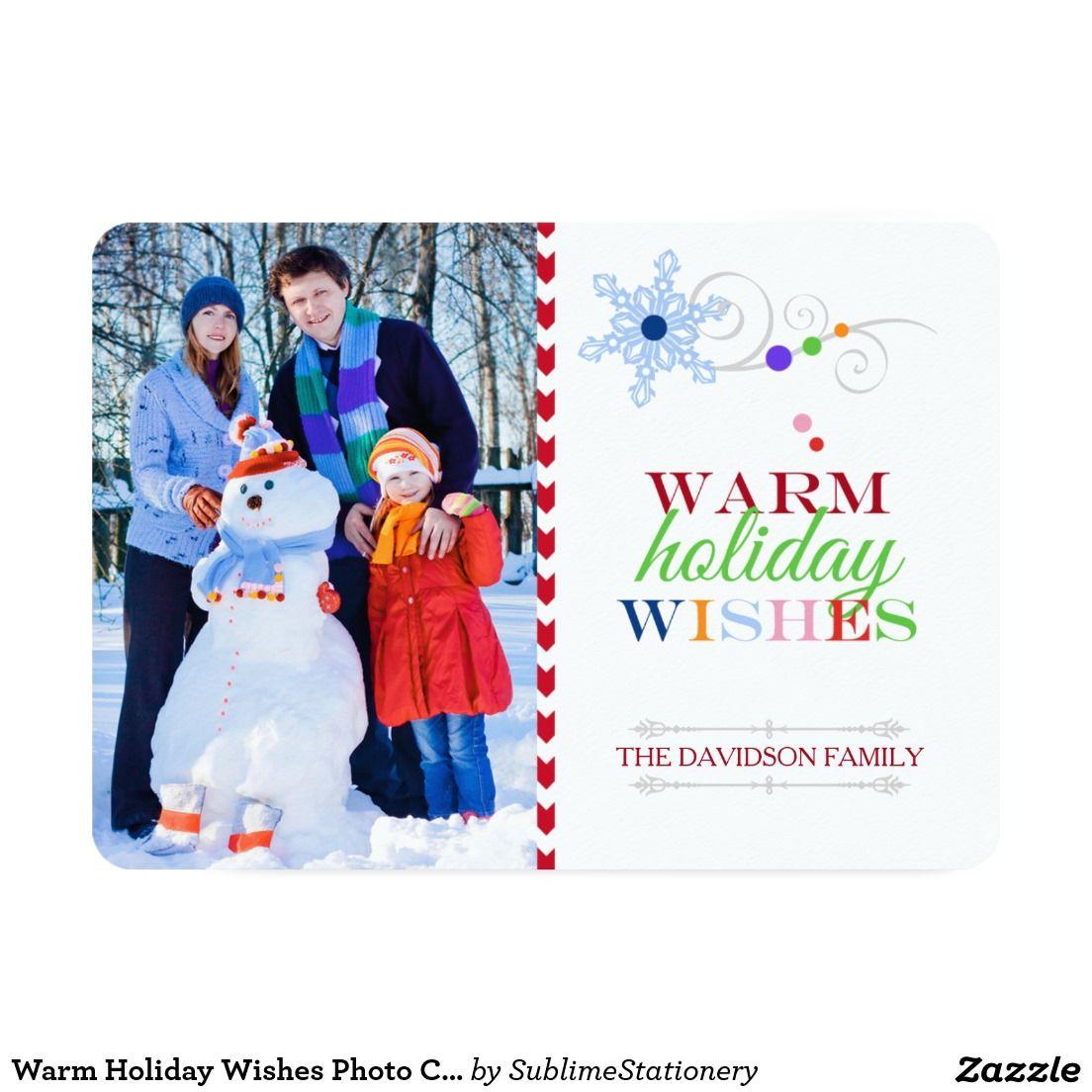 Warm holiday wishes photo christmas flat card kristyandbryce Gallery
