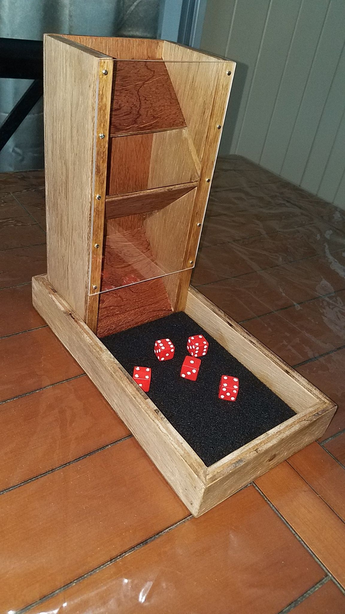 Homemade dice tower. Simple but effective! Dice tower