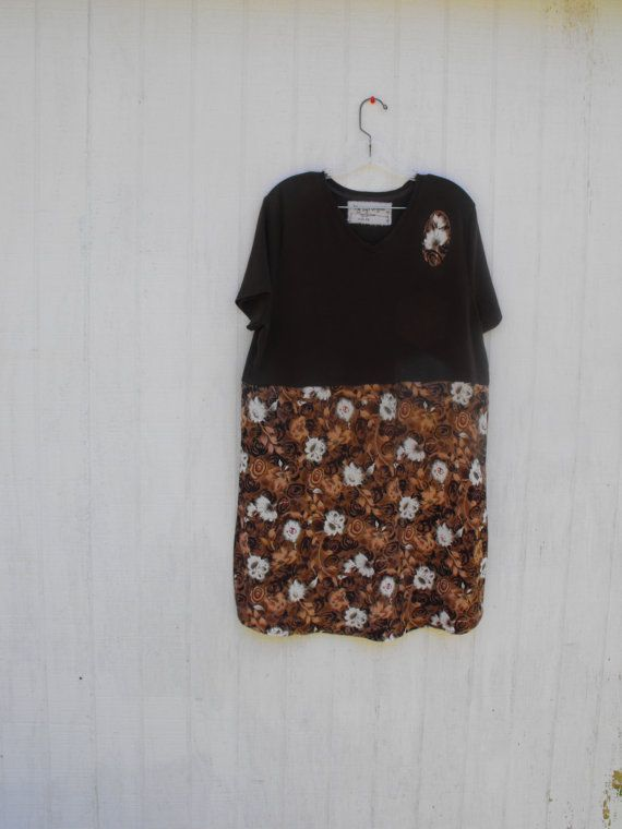 Upcycled  altered clothing Chocolate brown and by RagTagsOriginals, $44.99