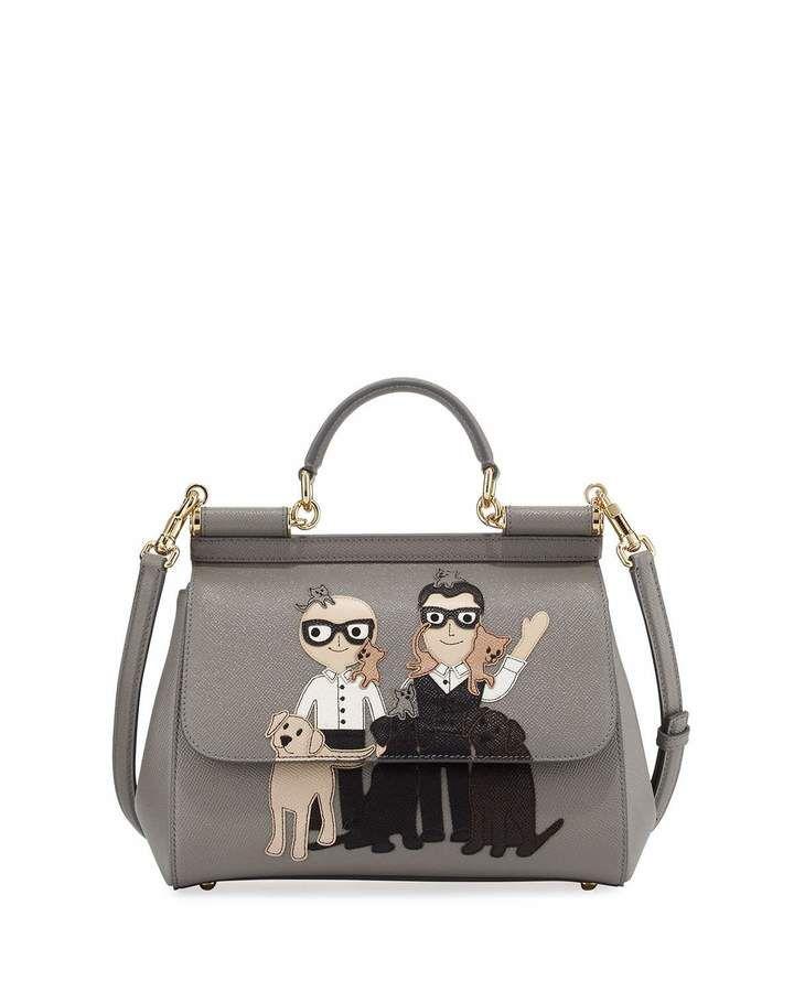 30cdd64f5573 Dolce   Gabbana Sicily Medium DG Family Patch Bag