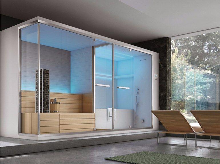 Sauna Turkish Bath With Bathub Olimpo By Gruppo Geromin Design