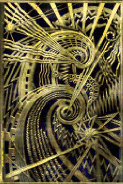 Art deco bronze chanin bldg new york cross stitch pattern
