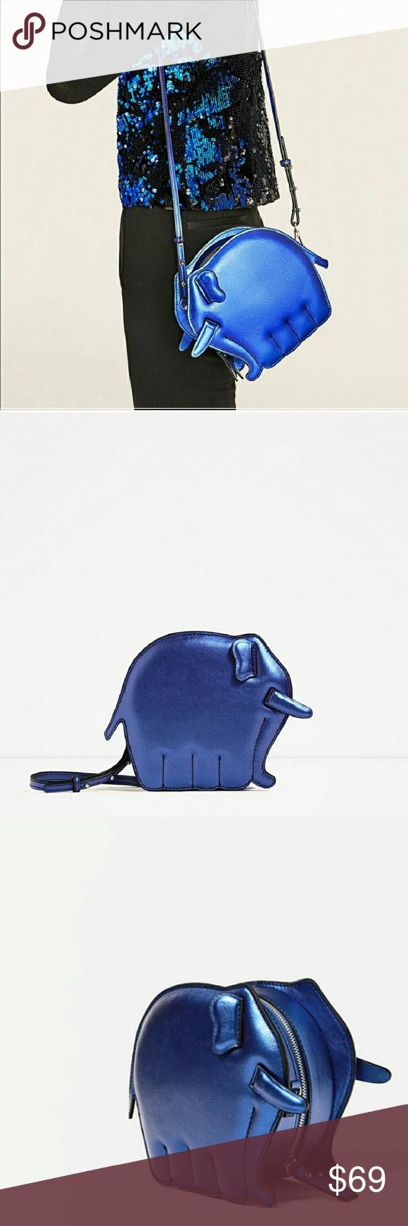 547436cfabc Zara Animal Shaped Elephant crossbody bag 4316 New with tag attached &  unworn, unused.