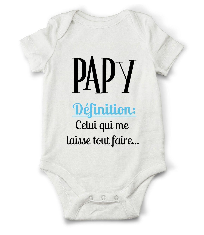 846212e2ec9b3 Body grenouillère définition de papy...   Mode Bébé par creatike ...