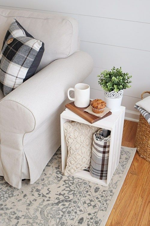 Crate Side Table Crate Side Table Living Room Decoration cheap living room decor