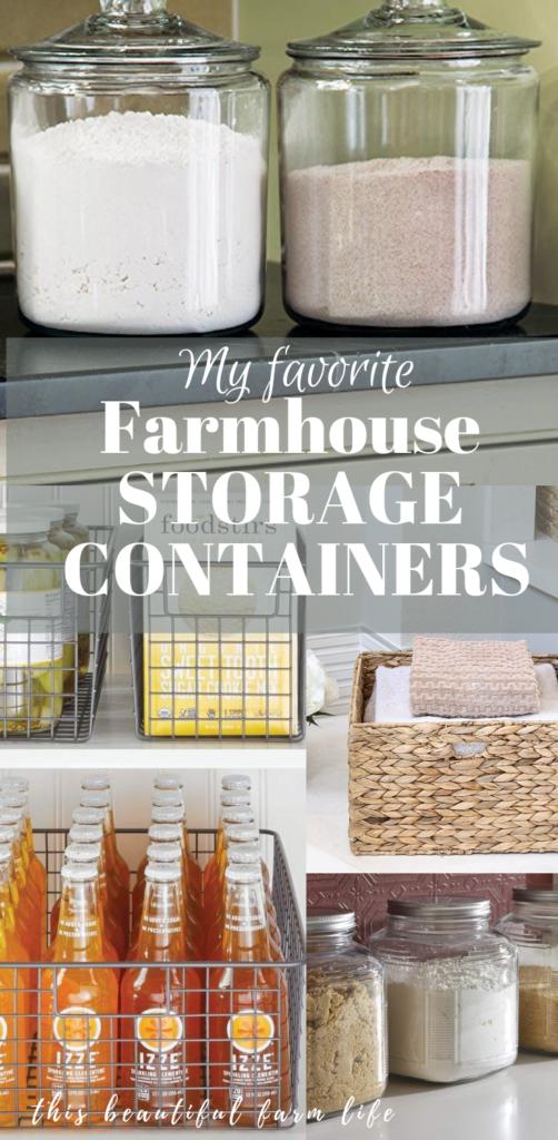 My Favorite Farmhouse Storage Containers On Amazon Kitchen