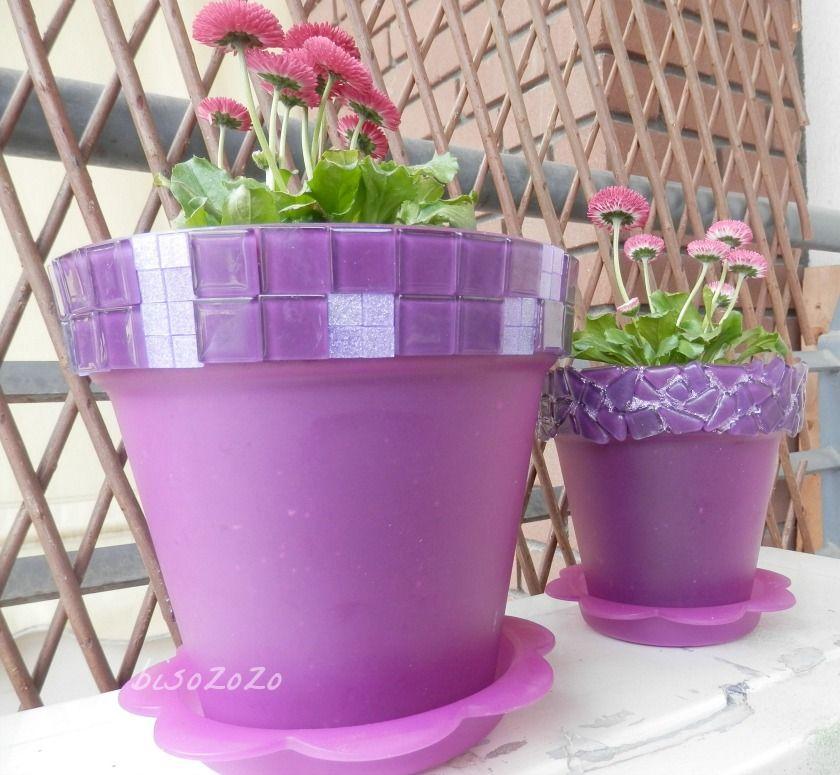 plastic flower pot painting ideas
