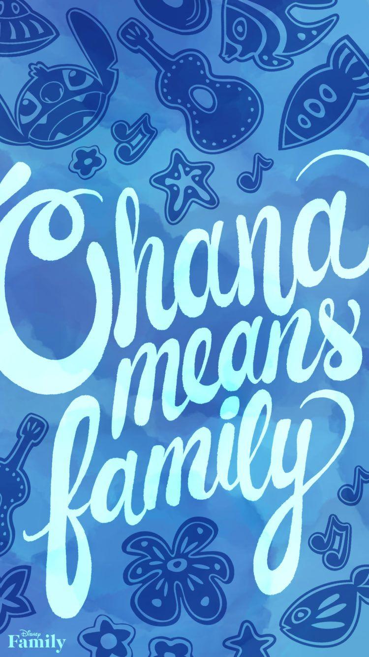 Ohana means Family, Lilo and Stitch screensaver