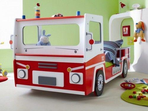 Feuerwehr Wagen Kinderzimmer Bett Design-Einrichten | Future kids ...