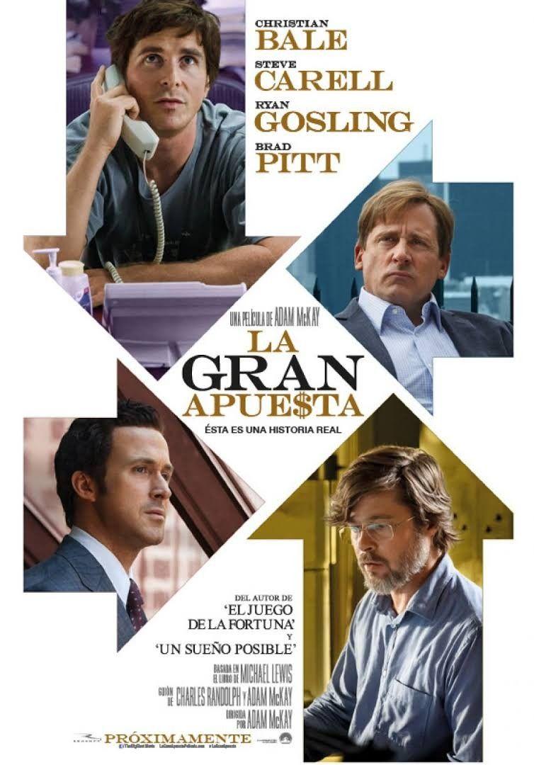 La Gran Apuesta 2015 Steve Carell Christian Bale Brad Pitt