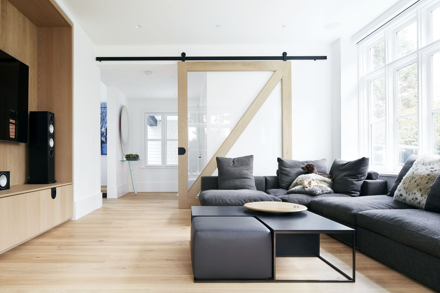 Vancouver, Canada Hakwood Pure Flooring in this modern