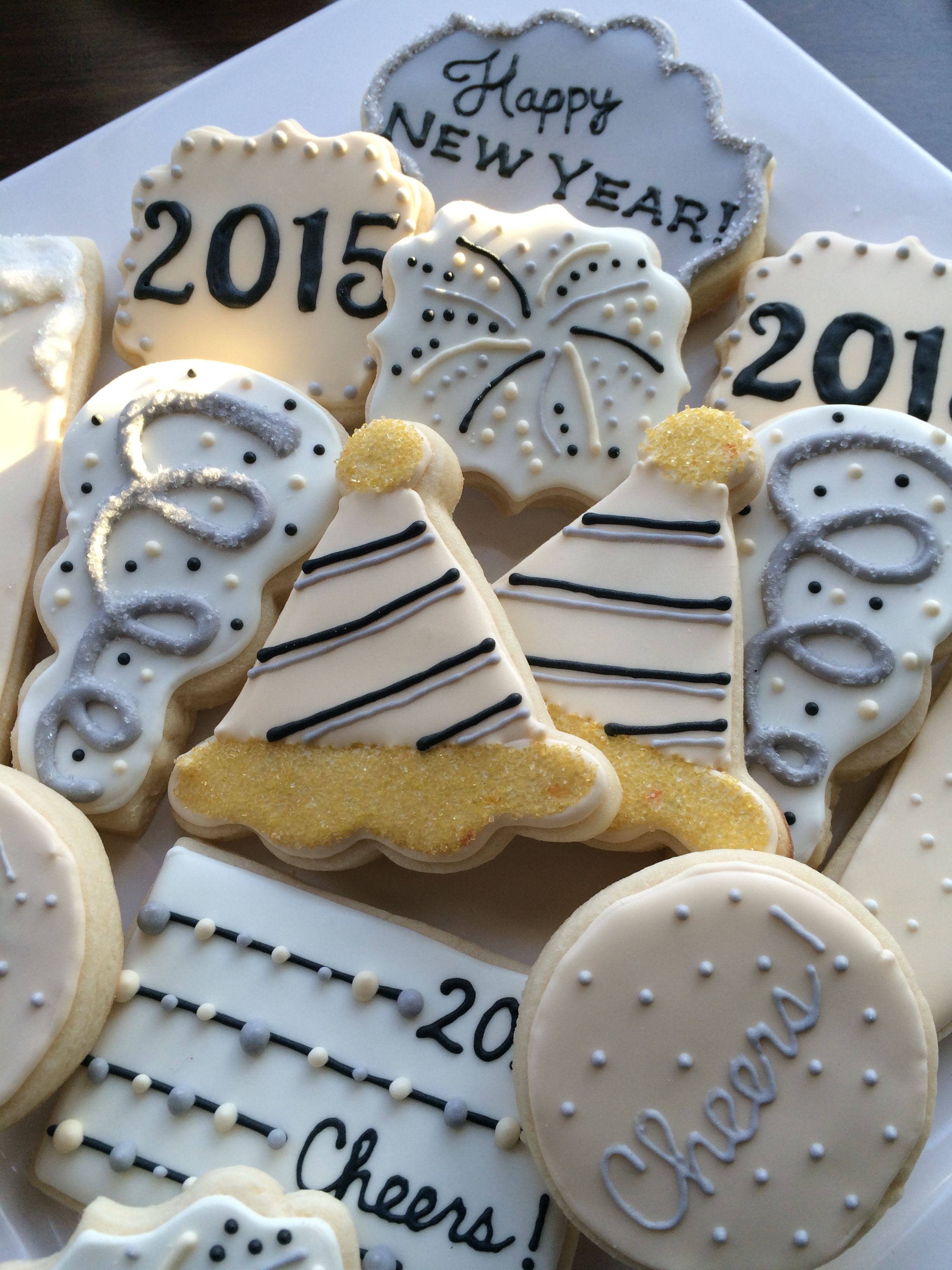 New Year s Eve cookies decorated cookies Cookie