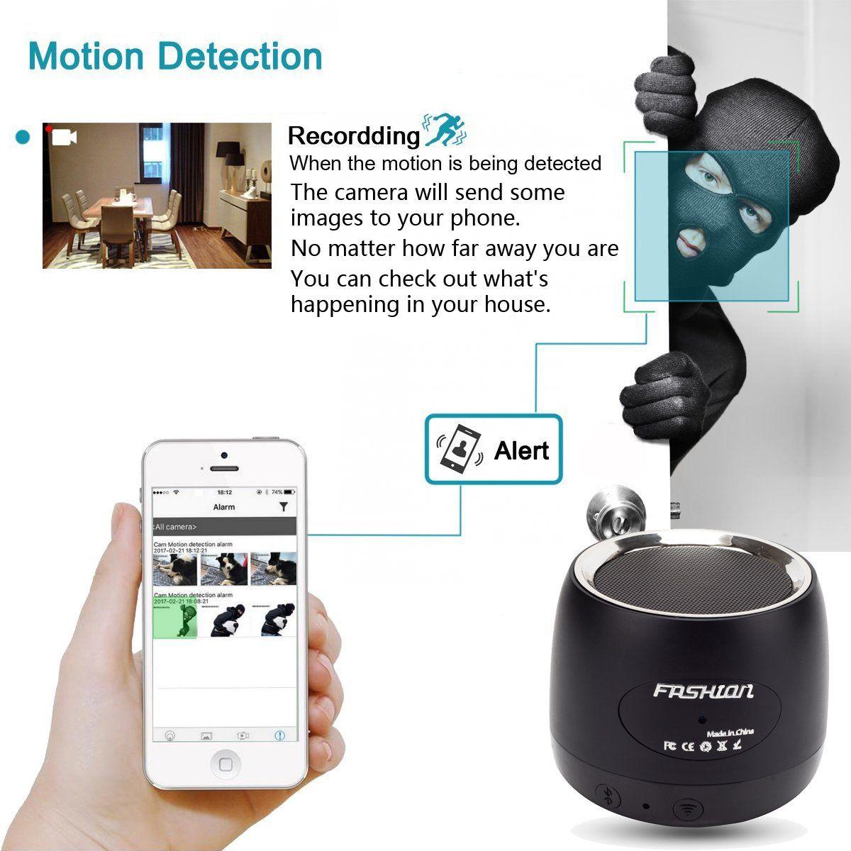 QUANDU WiFi Hidden spy camera hidden camera speaker Night