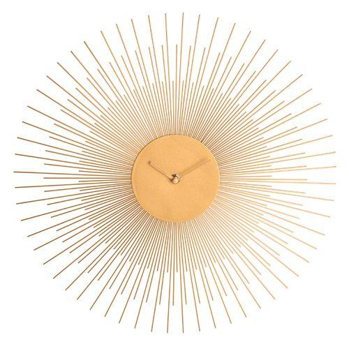 Horloge Murale Soleil En Métal Doré La Chaise Longue Cool