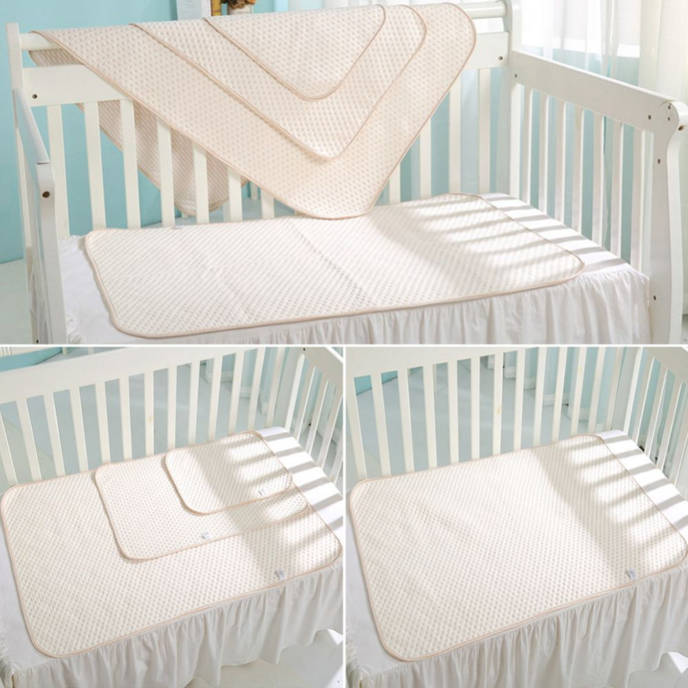 Organic Colorful Cotton Diaper Bed Pad Waterproof