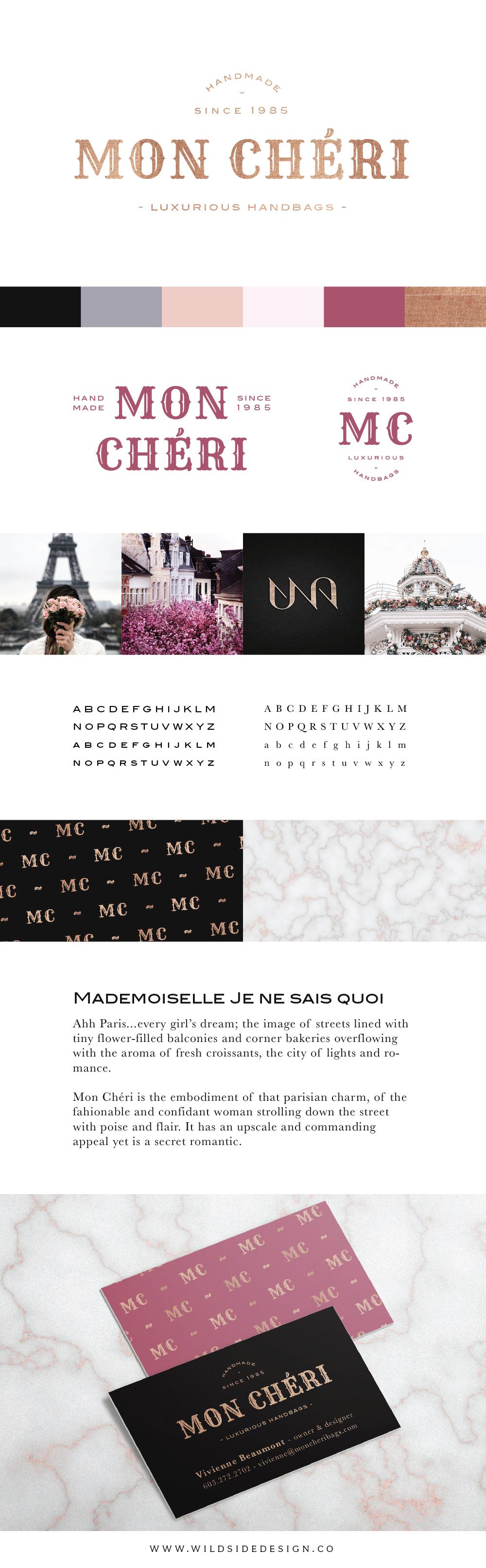 BRAND FOR SALE Luxury Logo Mon Chéri by Wild Side